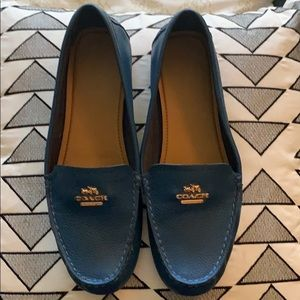 Blue Coach loafers